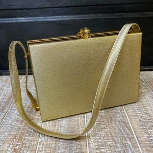 Midcentury Gold Shoulder Purse